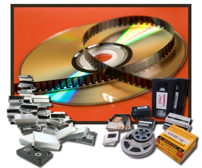vhs to dvd, we transfer all media types!