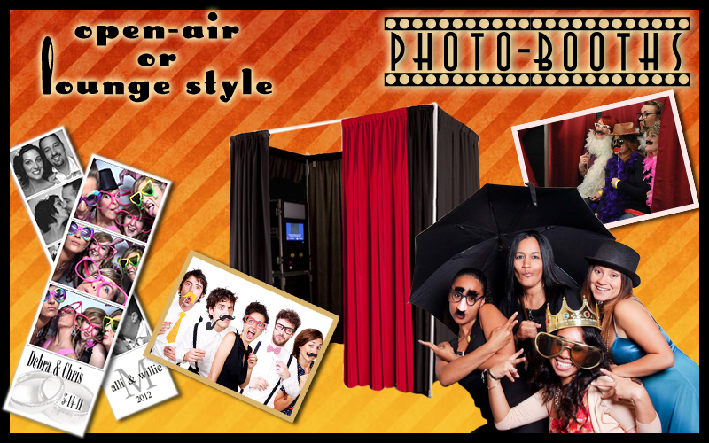 NJ Photo Booth Rentals, Open-Air and Lounge style booths. All inclusive pricing, free props